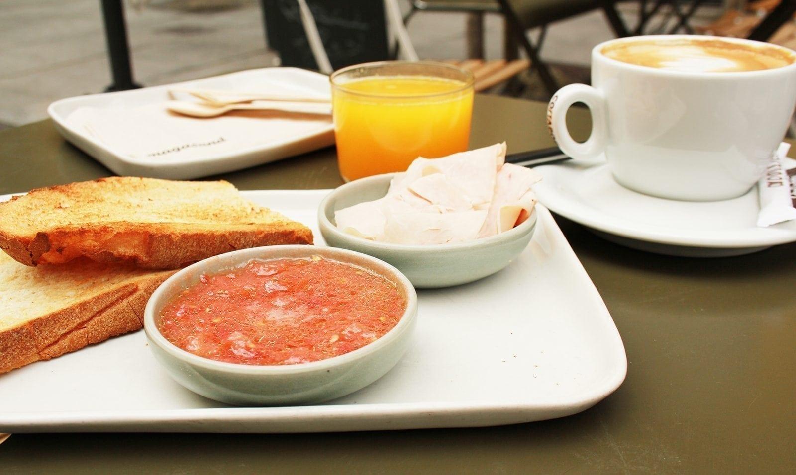 desayuno, sano, breakfast, pan, payés, magasand