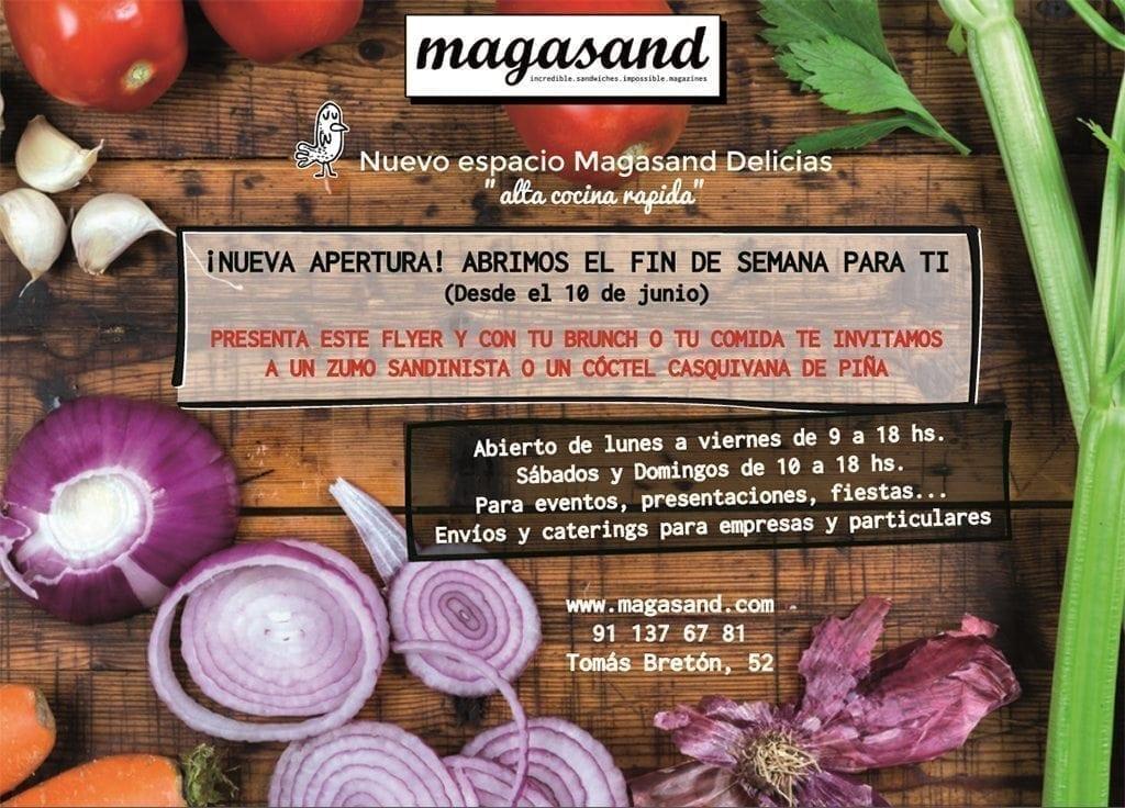 Magasand Delicias de Arganzuela abierto los fines de semana